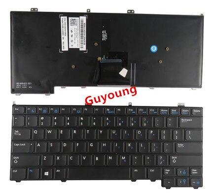 Laptop US Keyboard For DELL Latitude E7440 E7420 E7240 E7420D English Backlight