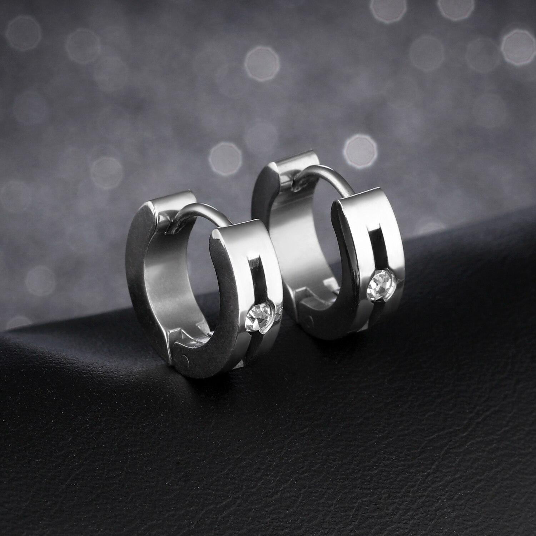 b7d20935b6f71 Rock Punk Earrings For Men Women Stainless Steel Unique Insert cubic ...