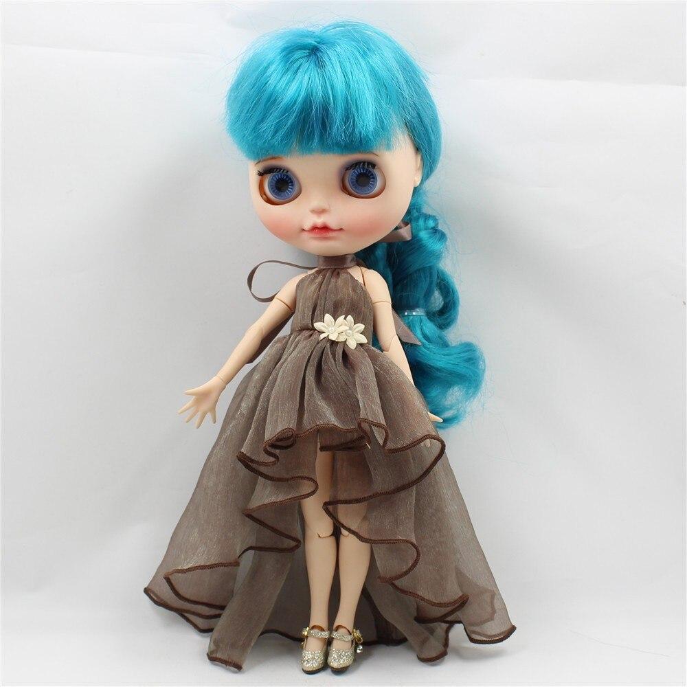 Neo Blythe Doll Chiffon Dress with Flower 10