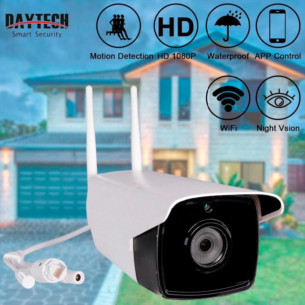 DAYTECH Wireless Outdoor IP Camera WiFi Surveillance Camera HD 1080P Waterproof IR Night Vision Monitor Bullet Monitor DT-H04 koy h04 k61