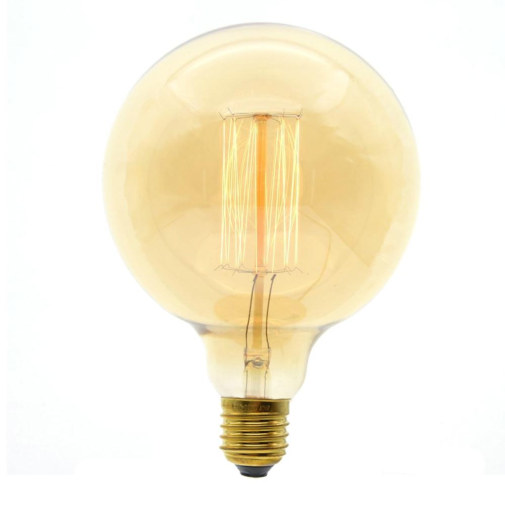 E27 40W Retro Edison Style Light Bulbs G125 Filament Vintage Ampoule Incandescent Bulb Edison Lamp