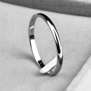 KNOCK Titanium Steel Rose Gold Anti-allergy Smooth Simple Wedding Couples Rings 2
