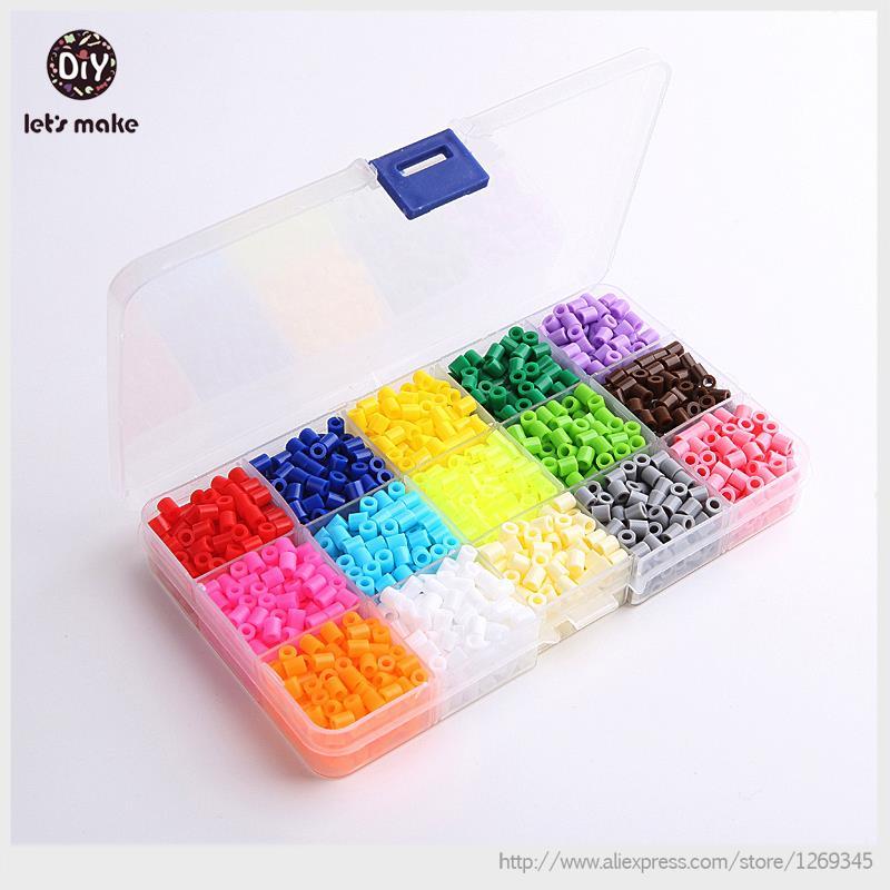 Să facem Pearl 2100 Perler Perle Margele Hama Margele 5mm 15 Seturi de culori Margele de siguranta Jigsaw Puzzle Jucarii Diy Copii Jucarii de Craciun