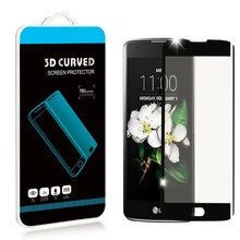0.2MM 3D Curved Tempered Glass Film For LG K8 K350N K Series K8 4G LTE Specs Screen Protector pelicula de vidro