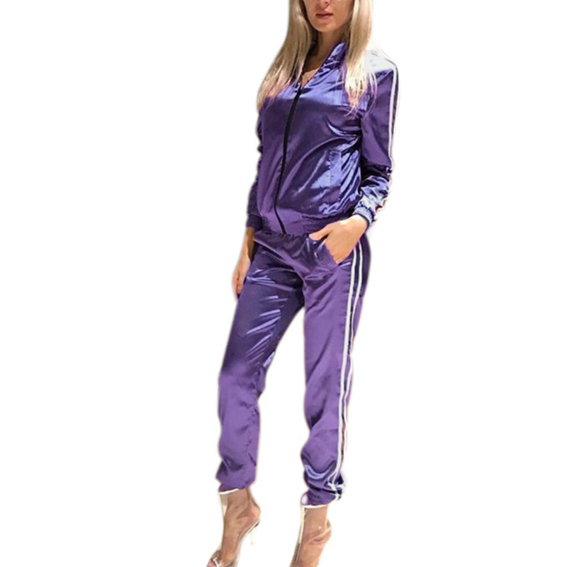 SILVERCELL 2 Pieces Set Tracksuits Sweatshirt Pants Women's