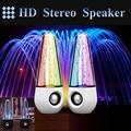 2 pçs/lote 2016 Novo Spray de Água Dança Speaker Com Luzes Led Música Fountain Dança Interface USB Portátil Para Alto-falantes Do Computador