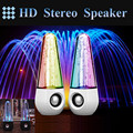 2pcs/lot 2016 New Dancing Water Speaker With Led Lights Music Fountain Spray Dance USB Interface Portable For Computer Speakers