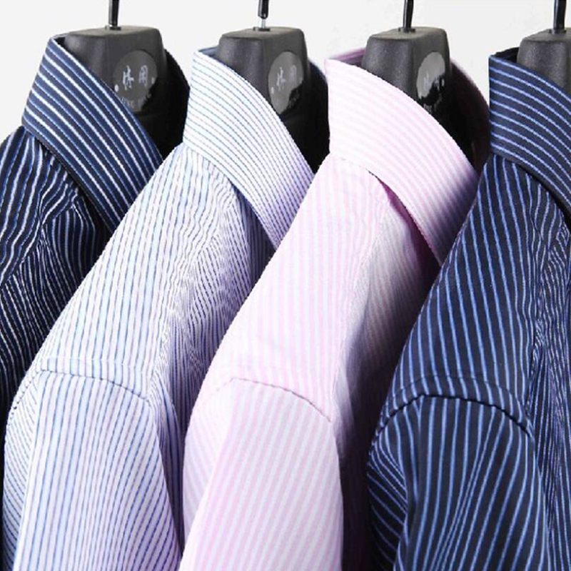 0135e03ae042efa Горные мужские рубашки в полоску 4XL 100% хлопок деловые мужские рубашки с  длинным рукавом брендовая