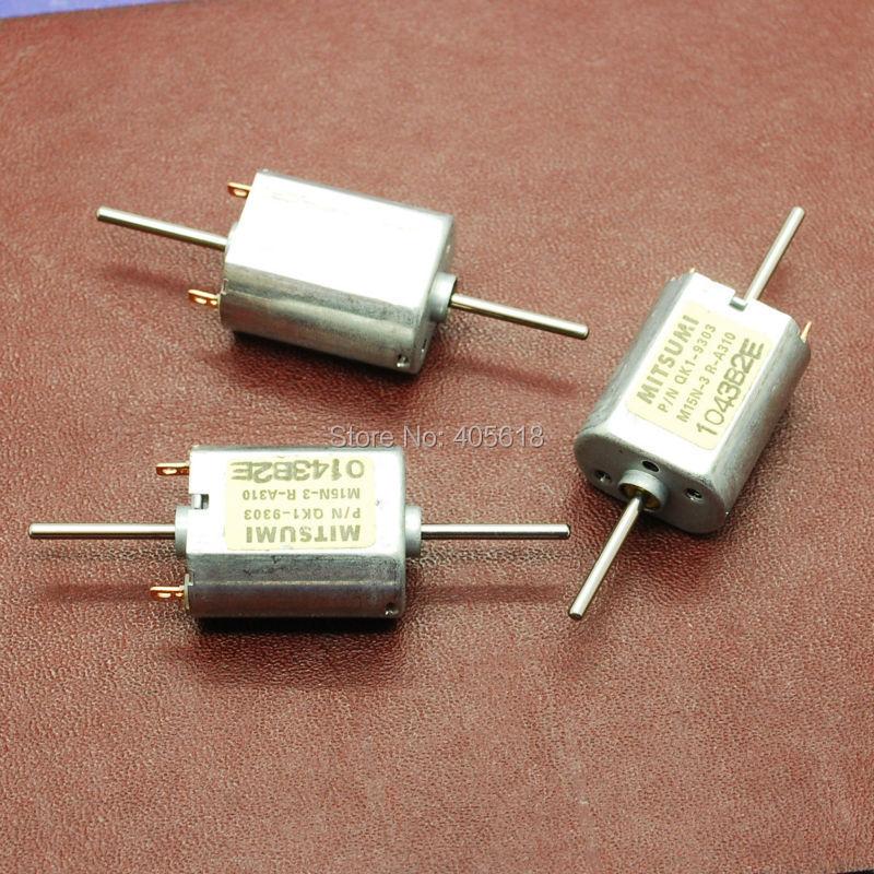 2pcs For MITSUMI DC12V 13500RPM Biaxial Dual Shaft Carbon Brush Motor for DIY