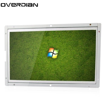 """10/10.1"""" VGA/USB/HDMI Interface Industrial Control Lcd Resistive/Single Touch Monitor Metal Shell White Open Frame 1024*600"""