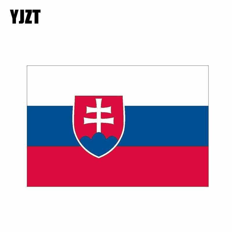 YJZT 13.1 سنتيمتر * 8.6 سنتيمتر شخصية علم سلوفاكيا ملصق سيارة ملصق مائي اكسسوارات الدراجة 6-0465