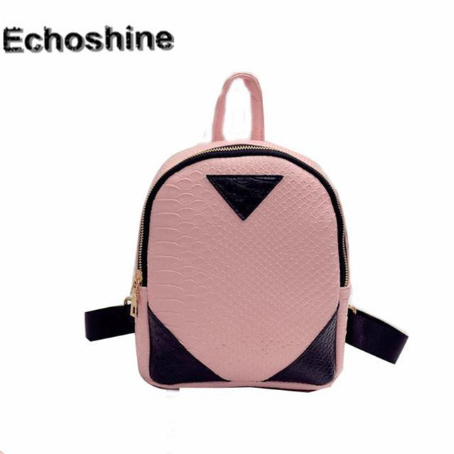 bbaefab3cd Fashion mini Women backpack PU Leather Rucksack lady girl School Bag  concise Serpentine pattern Backpacks gift wholesale A0000