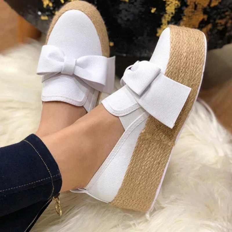 Mùa Xuân Năm 2019 Đế Phẳng Giày Nền Tảng Cho Chân Trên Da Phẳng Da Lộn Nữ Cho Nữ Mộc Mạch Trà Giày Trang Sức Giọt