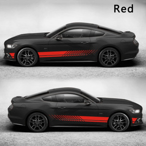 Image 2 - 2pcs Car Logo Decal Styling Car Door Side Stickers Accessories Body Decals Auto Vinyl 6.9 foot Vehicle Decals Car Exterior Stick