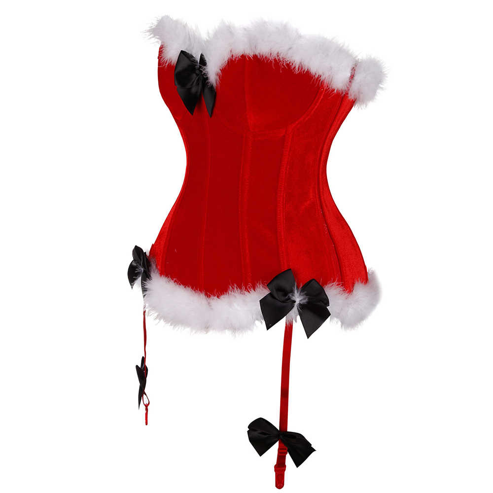 Miss Moly Рождество корсет Клаус бюстье сексуальные лучшие костюмы Корсеты выше груди и бюстье Санта платье Рождественский костюм корсеты