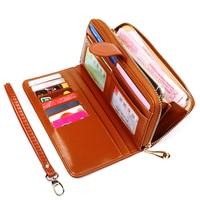 Hot Sale Women Clutch 2018 New Wallet Split Wallet Female Long Short Wallet Women Zipper Purse Strap Coin Purse For Money