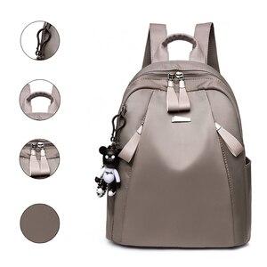 Image 1 - Женский водонепроницаемый рюкзак Mochilas mujer, повседневный рюкзак из ткани Оксфорд для путешествий, 2019