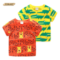 Cartoon Crocodile/Tiger Pattern Baby T Shirt Short Sleeve Print Tops Fashion Boys T-shirts Summer Boys Clothes Toddler Boy Tees