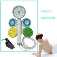 Charging Type High Power Wireless Electric Automatic Bathing Brush Back Massage Rubbing Machine Bath Massage Brush Long Handle