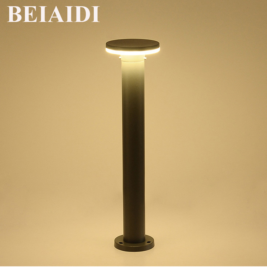 BEIAIDI 10W Waterproof Led Landscape Lawn Lamp 40 60CM Aluminum Stand Pole Column Lawn Light Outdoor