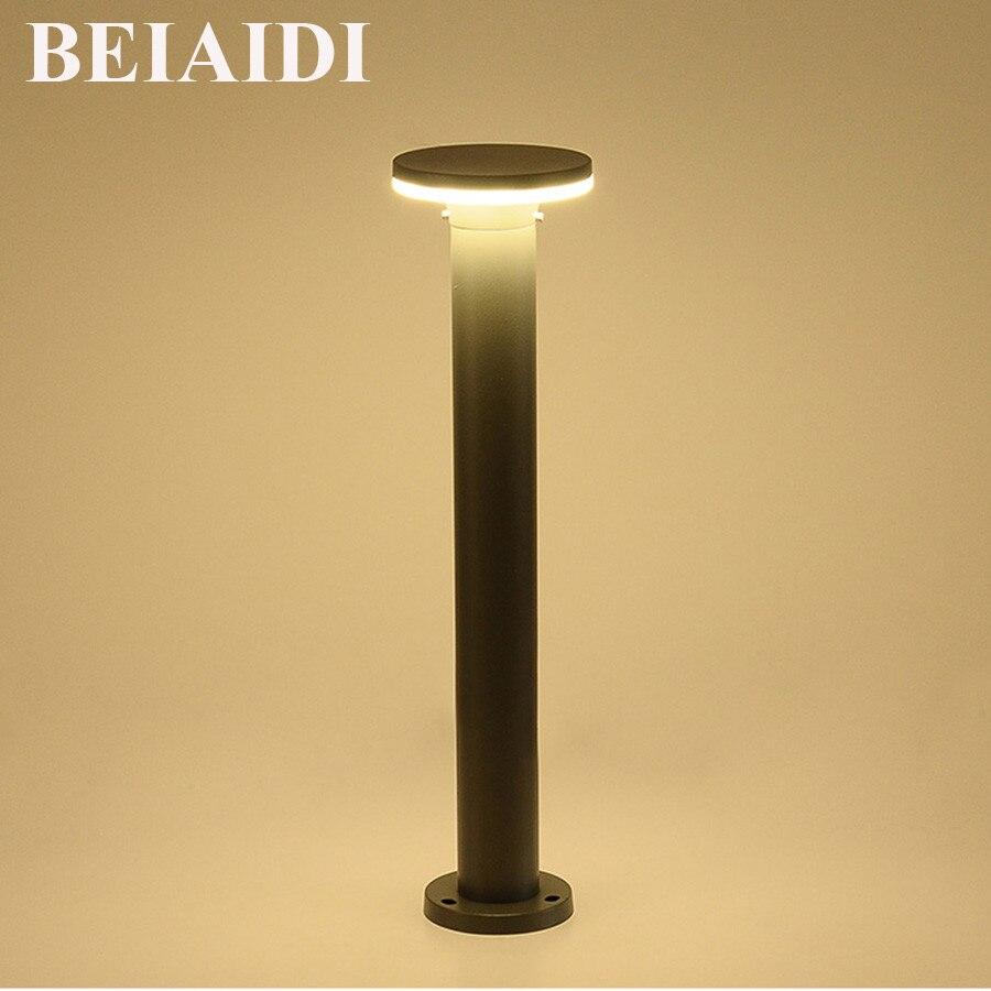 BEIAIDI 10 ワット防水 Led 景観芝生ランプ 40/60 センチアルミポール列芝生ライト屋外公園ボラード光  グループ上の ライト & 照明 からの 芝生ランプ の中 1