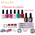 burano 7.3ml gel nail polish kit nail art tools uv gel manicure set choose 6colors top base coat