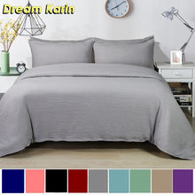 Dream Karin Classical Luxury Solid Color Duvet Cover Soft Bedding Set For Adult 3pcs Size Twin Queen King(China)
