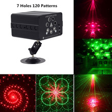 120 Pattern Laser Projector Remote/Sound Controll LED Disco Light RGB DJ Party Stage Light Wedding Christmas Lamp Decoration