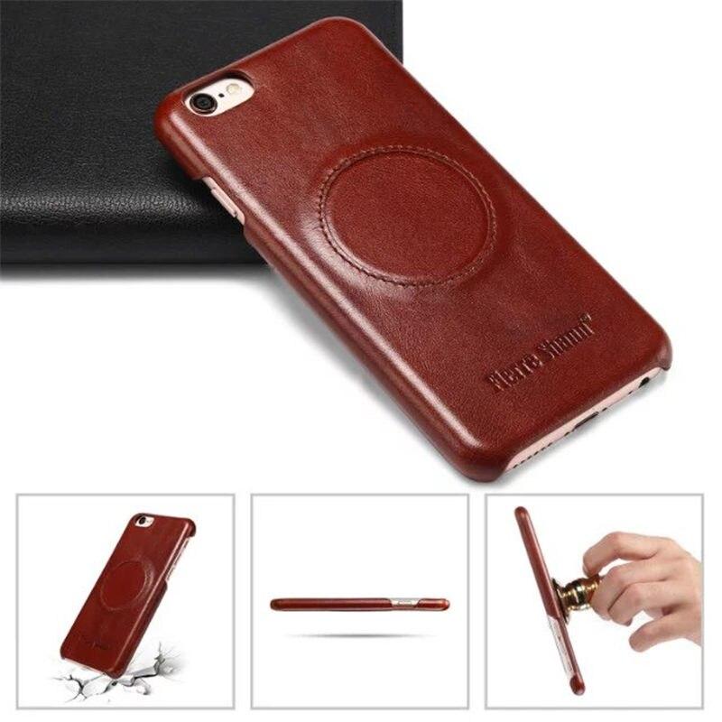 imágenes para Nuevo Lujo ultra-delgada Magnética Del Cuero Genuino de Nuevo Caso Para el iphone 7 7 Plus Casos Pegatina Cáscara Del Teléfono de Nuevo para el iphone 7