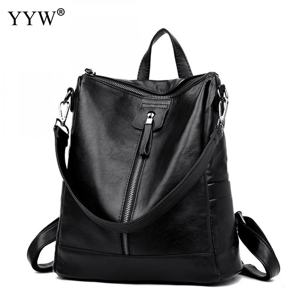 Women Leather Backpacks Multifunctional Bag Pu Bagpack Mochila Feminina Rucksack Female School Bags Famous Waterproof Back Bags ...