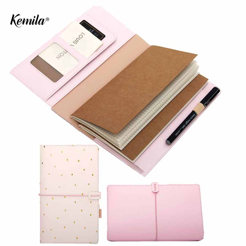 kemila Leather Notebook Travelers Notebook Diary Portable Journal Dotted Notebook Planner Agenda Organizer Kawaii Caderno sosw fashion anime theme death note cosplay notebook new school large writing journal 20 5cm 14 5cm