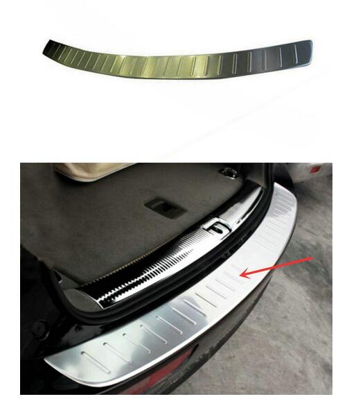 free shipping car sticker Stainless Steel Rear Bumper Protector Sill Plate Cover For Audi Q5 2009 2010 2011 2012 2013 2014 2015 quik lok s380 5