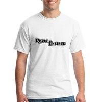 Letter Royal Enfield Tees Shirt Men Male Popular White Short Sleeve Custom Plus Size Party Harajuku
