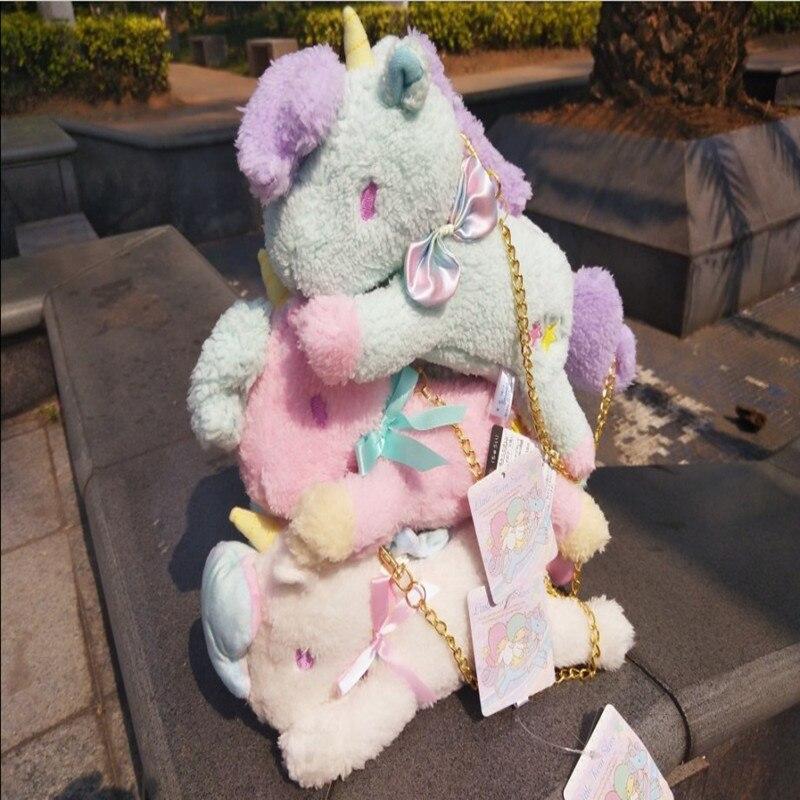10 Sanrio Little Twin Étoiles Rose Licorne Sac Charme Poupée Animaux En Peluche En Peluche Toy TNO Donner enfants cadeaux d'anniversaire porte-monnaie