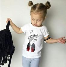 Ins Summer High Heel Shoes Pattern Child Kidstoddler Baby Girls White Short Sleeve T Shirt Top Tank Tee Clothes