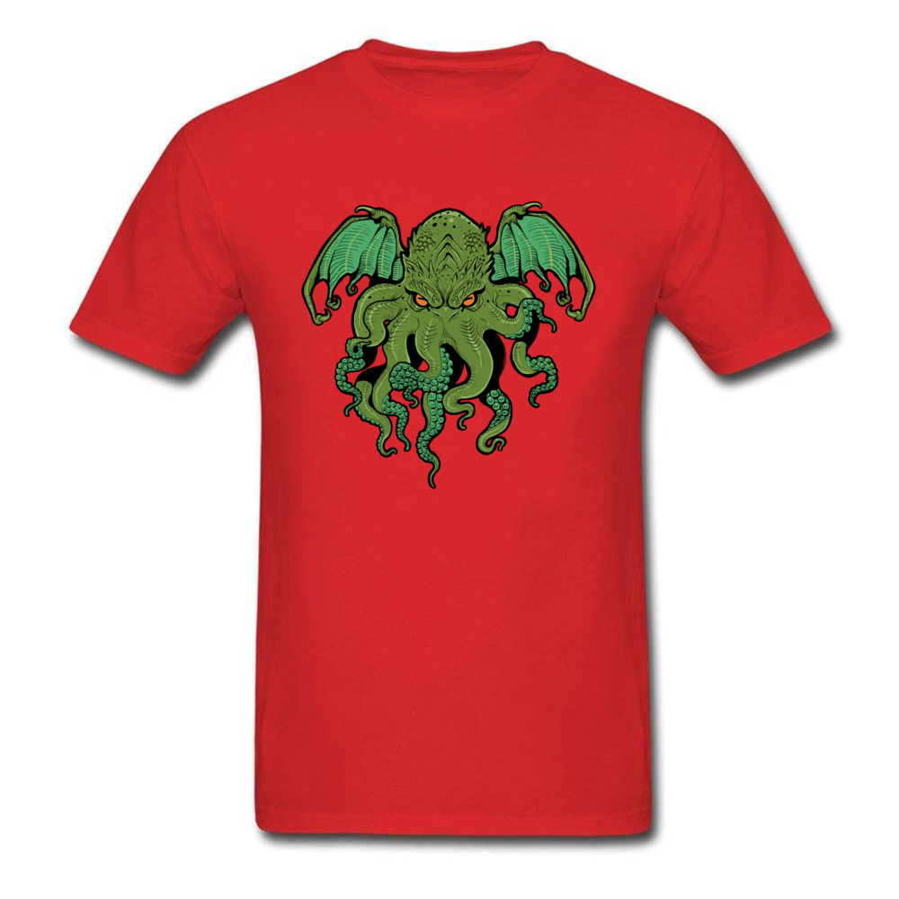 cthulhu 10992 Design ostern Day 100% Cotton Round Collar Mens Tees Summer Tee Shirt Family Short Sleeve T Shirts cthulhu 10992 red
