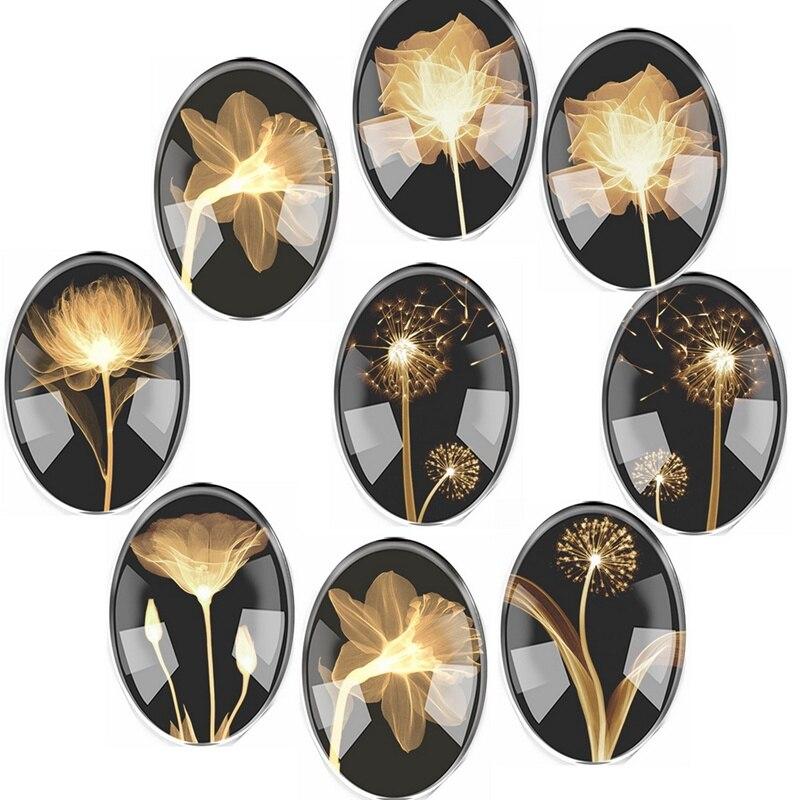 Handmade Glass Mix Size Dandelion Flower Oval Flatback Cameo Cabochon Domed DIY Jewelry Charm Photo Pendant Setting цена