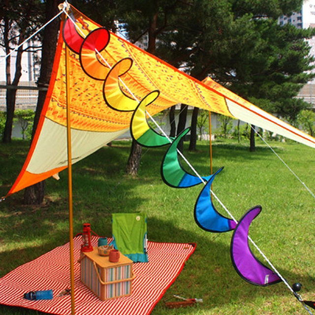 Spiral Rainbow Wind Spinner Tent Garden Outdoor Kite Tail Windsock Garden Yard Outdoor Decor Kids Toys & Spiral Rainbow Wind Spinner Tent Garden Outdoor Kite Tail Windsock ...