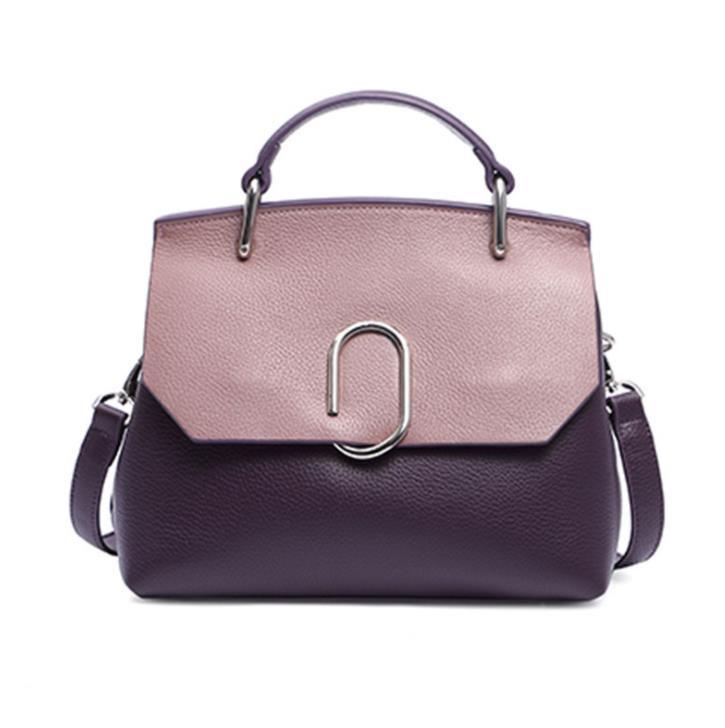 100% leather 2018 new leather diagonal bag ladies wild shoulders women handbags leather handbags free shipping