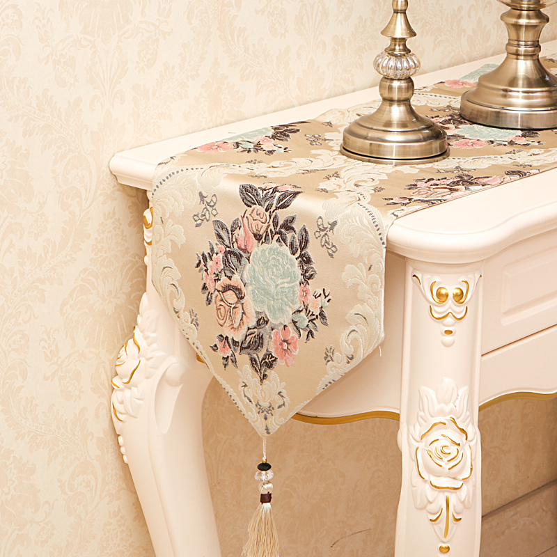 Amazing Embroidered Table Runners Tablecloths Floral Dining Living Room Kichen