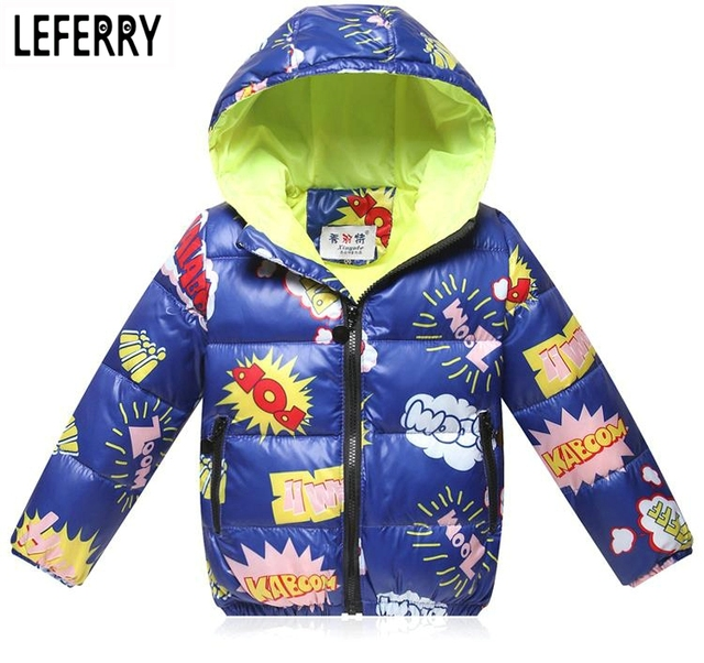 2016 New Winter Kids Clothes Boys Children Clothing Cotton Down Jacket And Coats boys Winter Coats Hooded Girls Winter Jackets