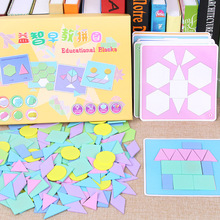 190 Pcs of Puzzle Early Education Puzzle Macarons Creative Jigsaw Puzzle Children DIY Variety Wooden Toys Educational Toys