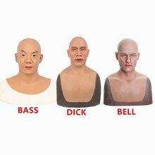 Искусственная Имитация человеческого лица силиконовая маска кожа для косплея Трансвестит реалистичный среднего возраста пожилых мужчин лицо изуродованный ремонт