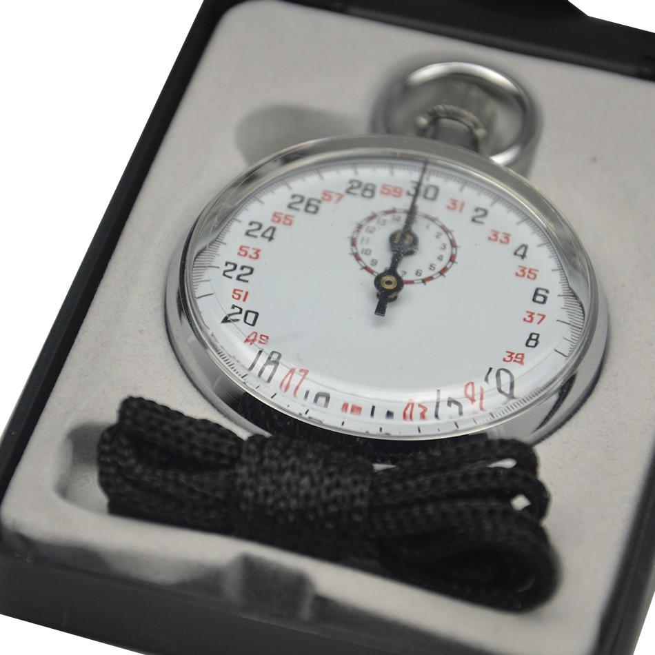 SXJ504 chronomètre mécanique numérique sport chronographe minuterie de course chronomètre de poche avec étui