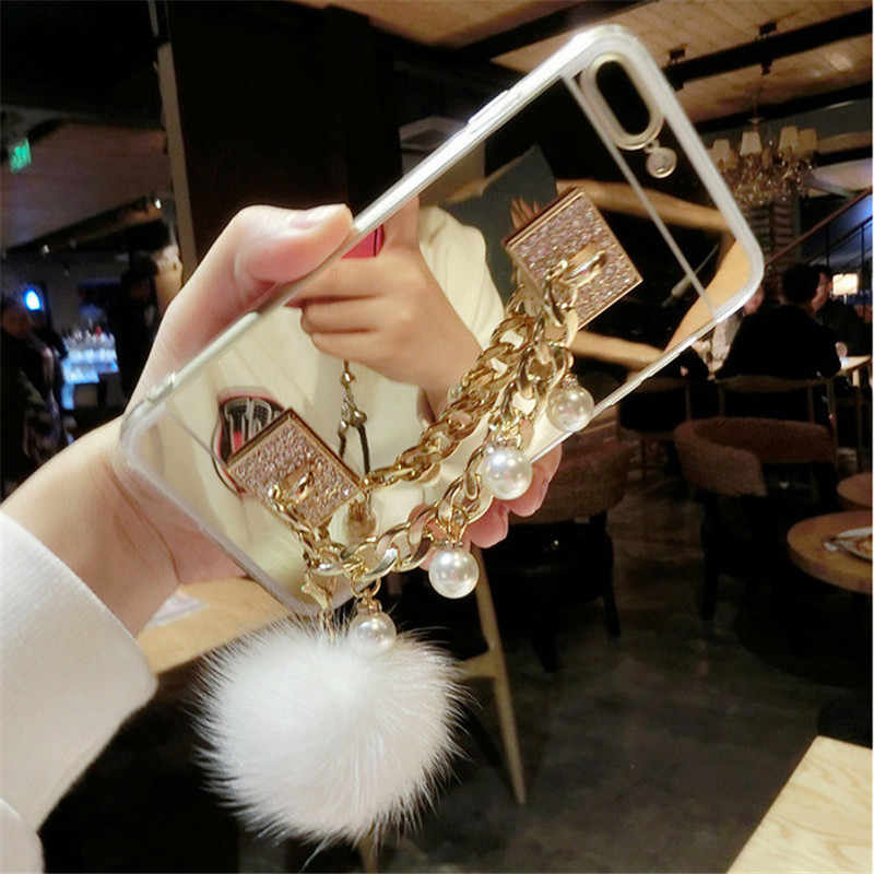 for xiaomi Redmi 4X 4A 5A 6A Note 4 5 MIX 2S MAX 2 5S 5C 5X Luxury Fashion Mink tassel finger ring buckle mount soft mirror case