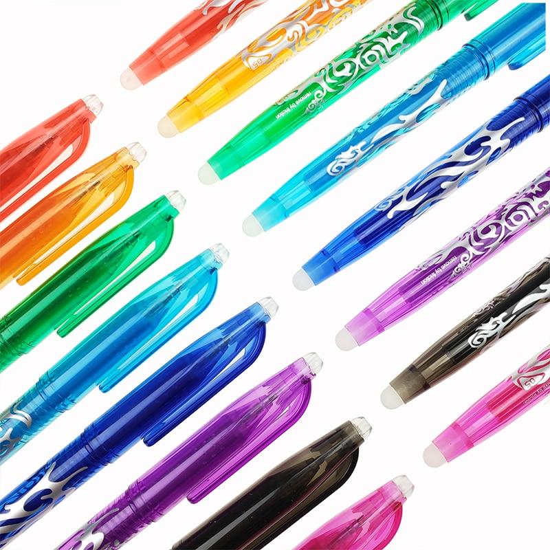 1Pc New 0.5mm Erasable Pen 1 pcs Refills Colorful set 8 kinds of styles Rainbow Erasable pen Best-selling Gel pen