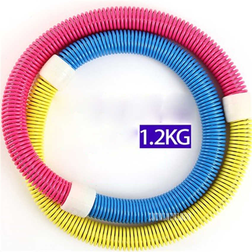 MW-525 PVC Material Weighted Sport Spring Soft Fitness Circle For Weight Loss Thin Waist Slimming Diameter 50cm pink/blue/purple