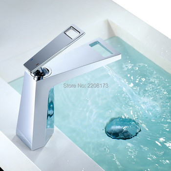 Wholesale And Promotions New Design Waterfall Bathroom Basin Sink Mixer Tap Brass Modern Chrome