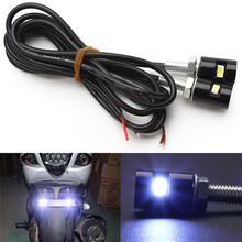 Motorcycle Accessories Hawk Eye License Plate Light 12V Electric Dual Tail Turn Signal Brake Vehicle Clearance Indicator Lights