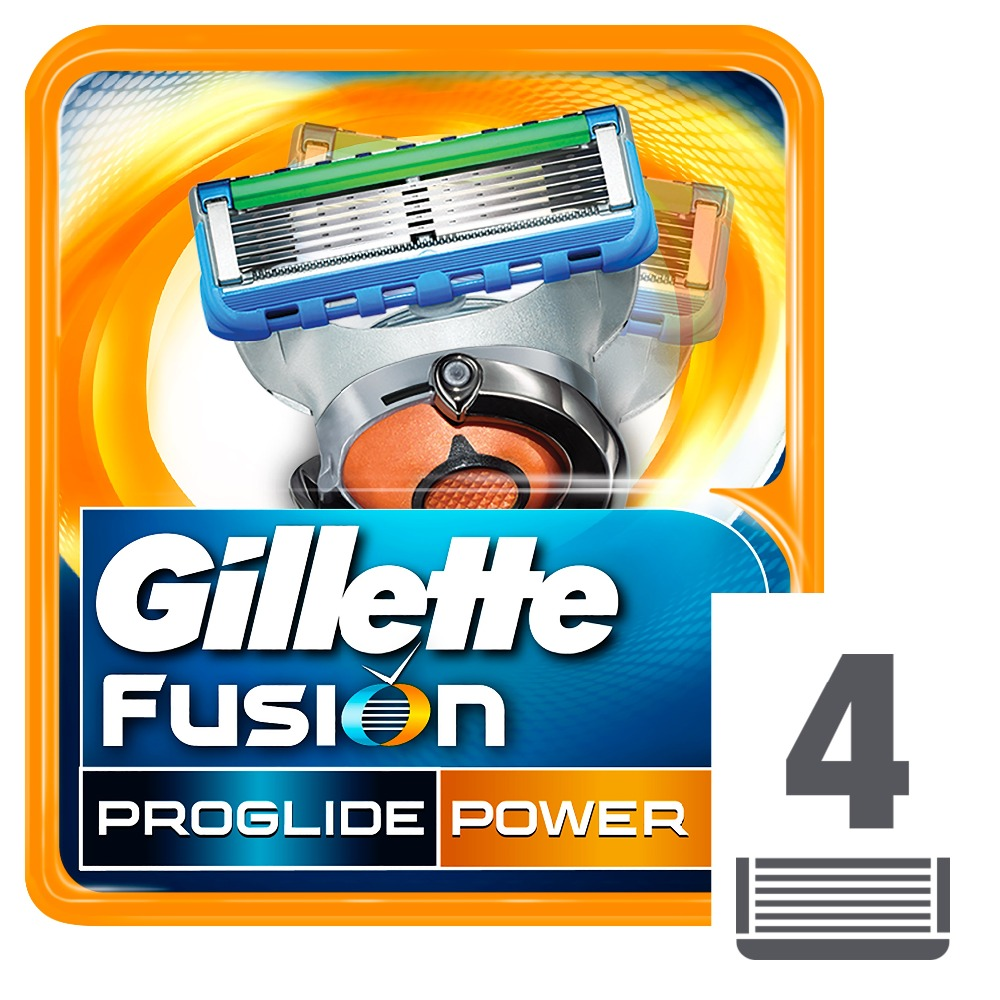 Replaceable Razor Blades for Men Gillette Fusion ProGlide Power Blade shaving 4 pcs Cassettes Shaving  Fusion shaving cartridge razor gillette fusion proglide flexball power shaver razors machine for shaving 1 razor blade